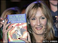 JK Rowling with Harry Potter And The Half-Blood Prince
