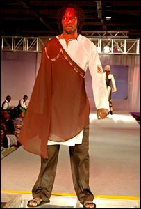 Man wearing a design for Kenya's national dress