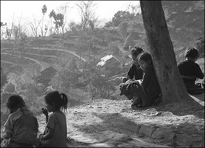 Gurkha schoolchildren