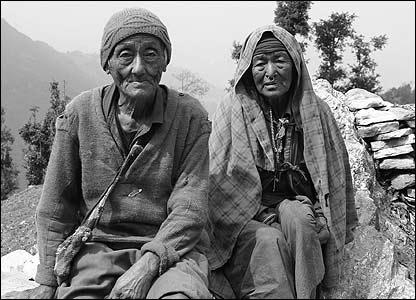 Manu Pun  and his wife in Nagi