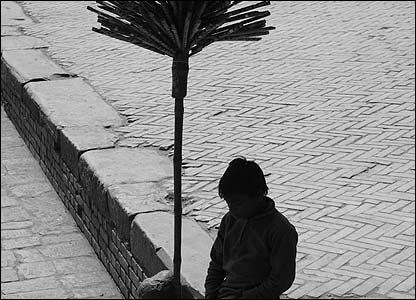 Boy sells flutes in Bhaktapur