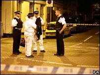 Scene of Islington stabbing