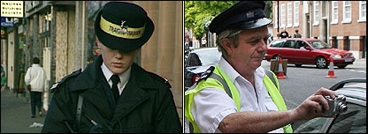Traffic warden in 1992 and in 2007