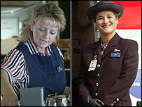 BA cabin crew in 1996 and in 2003