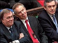 John Prescott, Tony Blair and Gordon Brown