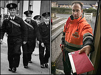 Postman in 1952 and in 2007