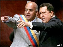New Vice-President Jorge Rodriguez and Hugo Chavez