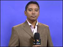 Freddy Muñoz, periodista de Telesur liberado. (Foto tomada del sitio de Telesur)