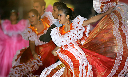 Bailarines en la ceremonia inaugural de la Copa Am�rica.