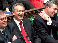 John Prescott, Tony Blair and Gordon Brown