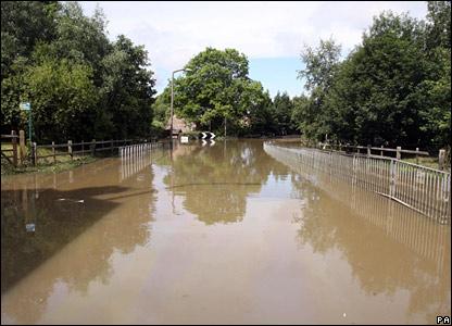 Flooded village of Treeton