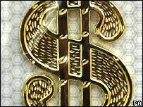 Gold dollar sign