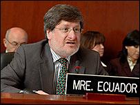 Francisco Carri�n, canciller de Ecuador, Foto: Juan Manuel Herrera, OEA