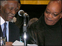 Thabo Mbeki (l) with Jacob Zuma