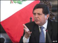Peruvian President Alan Garcia (file image)