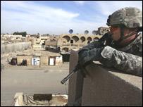 A US soldier in Baghdad (file image)