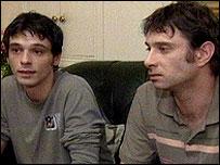 David Ervine's sons Mark and Owen
