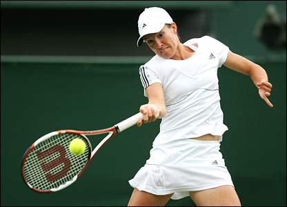 First-seed Justine Henin
