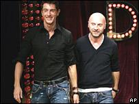 Fashion designers Domenico Dolce and Stefano Gabbana