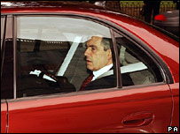 Gordon Brown on the way to the palace, Wednesday 27 June 2007