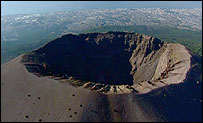 The crater of Mt Vesuvius