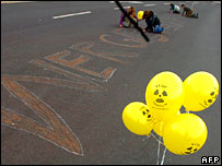 Street anti-nuclear protest. Image: AFP/Getty