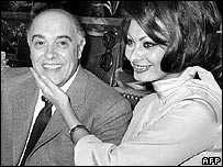 Carlo Ponti and Sophia Loren in 1966