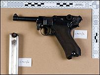 A Luger pistol