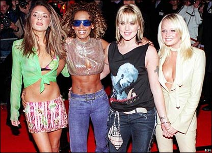 The Spice Girls, after Geri Halliwell's departure, in 2000