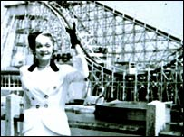 Marlene Dietrich at Blackpool Pleasure Beach in 1934