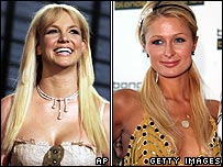 Britney Spears (left) and Paris Hilton