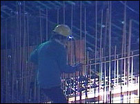 Construction worker in Beijing