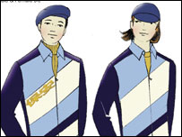 Sketches of new security outfits for Beijing 2008