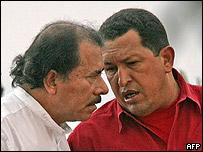 Daniel Ortega y Hugo Ch�vez