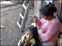 Barrio pobre en Managua