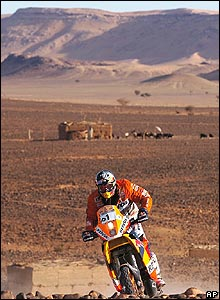 Spain's Marc Coma during the fourth stage of the Dakar Rally between Er-Rachidia and Ouarzazate in Morocco