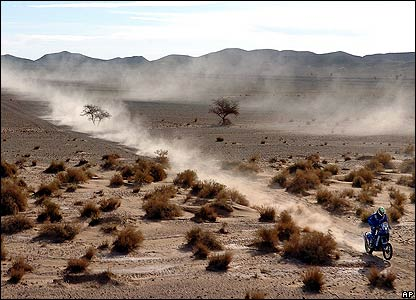 Dutchman Frans Verhoeven rides his KTM during the fourth stage of the Dakar rally between Er-Rachidia and Ouarzazate in Morocco