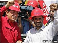 Hugo Chávez y Mahmud Ahmadinejad