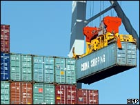 Chinese cargo containers