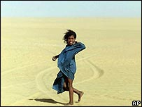 Tuareg girl in the Sahara Desert, north of Timbuktu, Mali