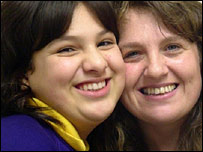 Misbah/Molly and her mother Louise Campbell