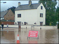 Flooding in Lowdham