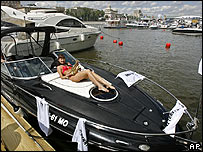 Russian yacht show in Moscow on 22 June 2007
