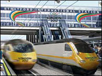 Artists impression of Stratford International station. Picture courtesy of London 2012
