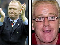 Alex McLeish (left) and Tommy Burns