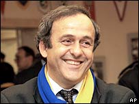 Michel Platini at a function organised by the Ukrainian Football Association