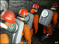 Rescuers at a mining accident in China [file photo]