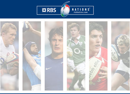 Players from each of the Six Nations teams