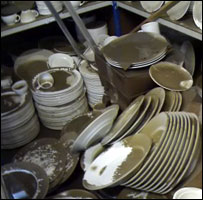 Damaged crockery