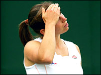 Katie O'Brien accepts defeat at Wimbledon